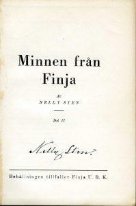 Dikten Insjön med omnejd kommer från Minen från Finja som utkom 1946.